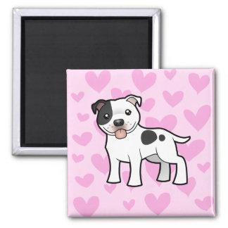 Staffordshire Bull Terrier Love Magnet
