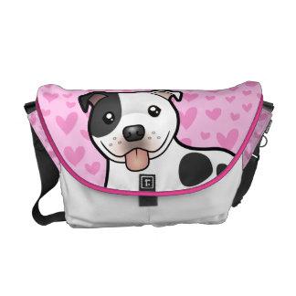 Staffordshire Bull Terrier Love Messenger Bag