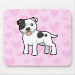 Staffordshire Bull Terrier Love Mouse Pad