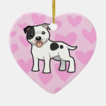 Staffordshire Bull Terrier Love Double-Sided Heart Ceramic Christmas Ornament