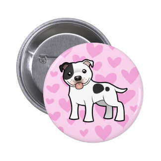 Staffordshire Bull Terrier Love Pinback Button