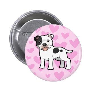 Staffordshire Bull Terrier Love Pinback Button