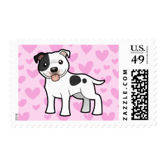 Staffordshire Bull Terrier Love Postage