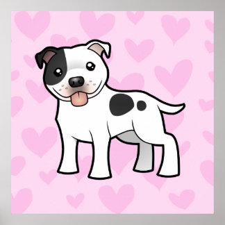 Staffordshire Bull Terrier Love Poster