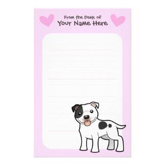 Staffordshire Bull Terrier Love Stationery