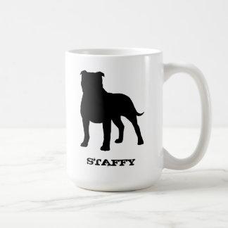 Staffordshire Bull Terrier Classic White Coffee Mug