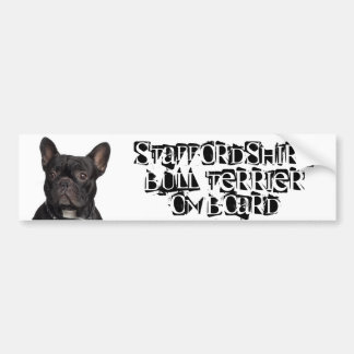 Staffordshire Bull Terrier on Board Bumper Sticker