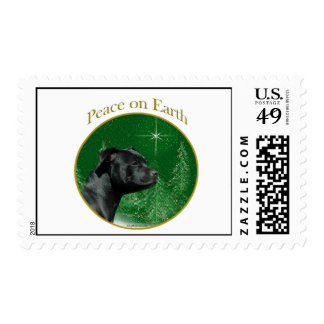 Staffordshire Bull Terrier Peace Postage Stamp