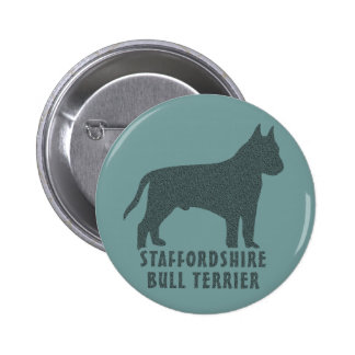 Staffordshire Bull Terrier Pinback Button