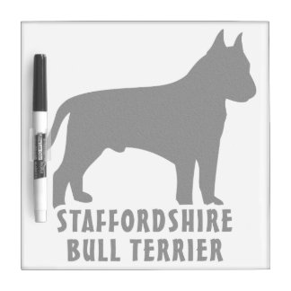 Staffordshire bull terrier tablero blanco