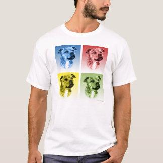 Staffordshire Bull Terrier Pop Art T-Shirt