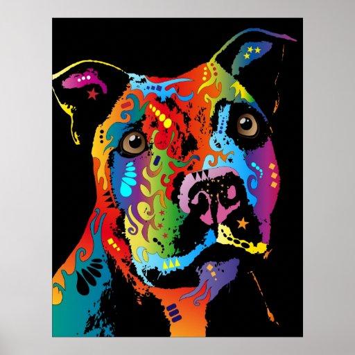 Staffordshire bull terrier póster