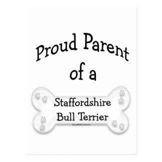 Staffordshire Bull Terrier Proud Parent Postcard