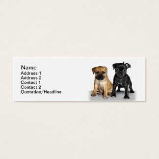 Staffordshire bull terrier puppies mini business card