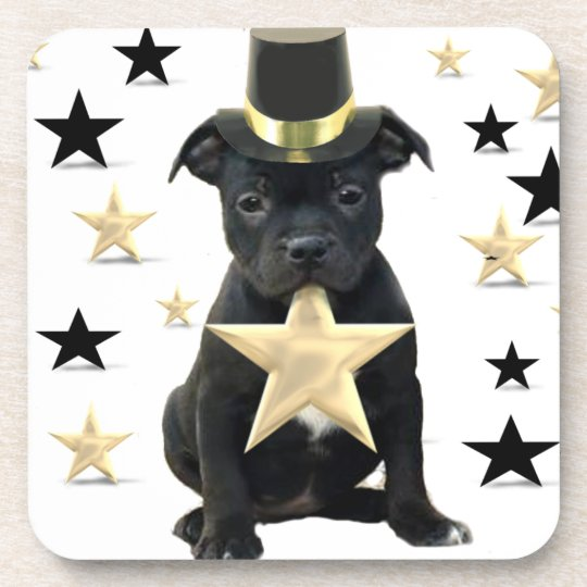 Staffordshire bull terrier puppy coaster