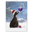 Staffordshire bull terrier puppy, holiday Card