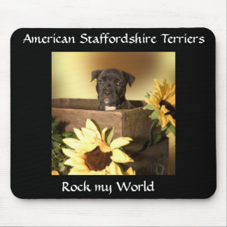 Staffordshire  Bull Terrier Puppy Mouspad Mouse Pad
