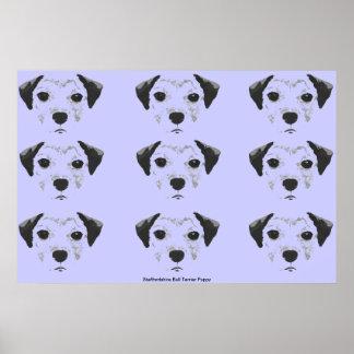 Staffordshire Bull Terrier Puppy Pop Art Poster