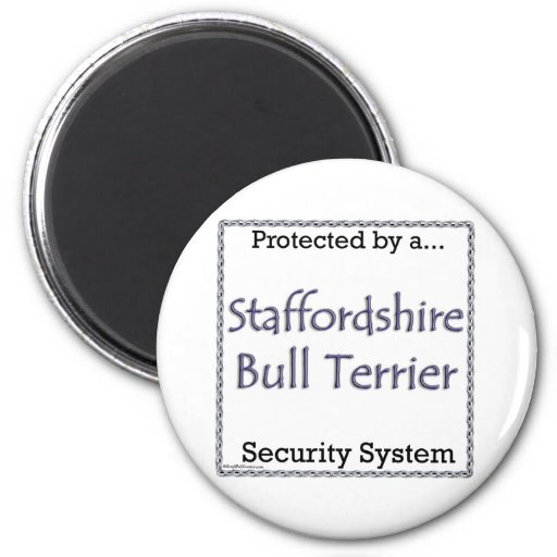 Staffordshire bull terrier Securit… - Imán
