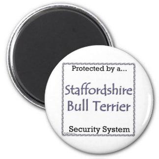 Staffordshire Bull Terrier Securit - Magnet