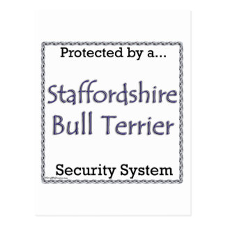 Staffordshire Bull Terrier Security System Postcard