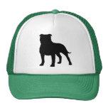 Staffordshire Bull Terrier Silhouette Mesh Hats