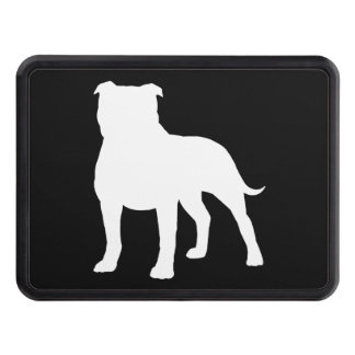 Staffordshire Bull Terrier Silhouette Hitch Cover