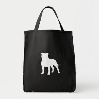 Staffordshire Bull Terrier Silhouette Tote Bag