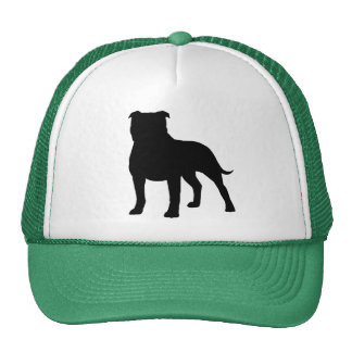 Staffordshire Bull Terrier Silhouette Trucker Hat