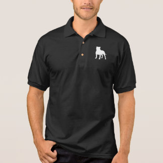 Staffordshire Bull Terrier Silhouette Polo Shirts