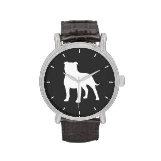 Staffordshire Bull Terrier Silhouette Wrist Watch