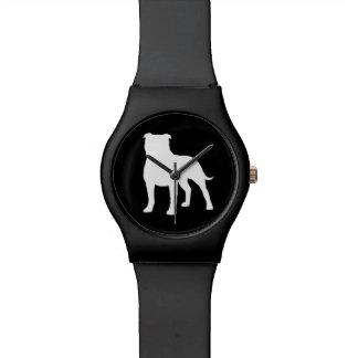 Staffordshire Bull Terrier Silhouette Wristwatch