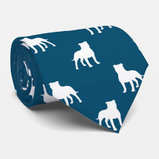 Staffordshire Bull Terrier Silhouettes Pattern Tie