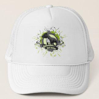 Staffordshire Bull Terrier SPLASH green Trucker Hat