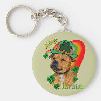 Staffordshire Bull Terrier St. Pat's Keychain