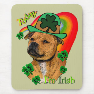 Staffordshire Bull Terrier St. Pat's Mouse Pad