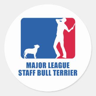 Staffordshire Bull Terrier Round Sticker