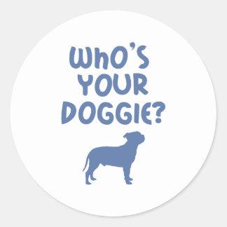 Staffordshire Bull Terrier Round Stickers