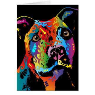 Staffordshire bull terrier tarjetas