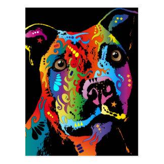 Staffordshire bull terrier tarjetas postales