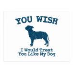 Staffordshire bull terrier tarjeta postal