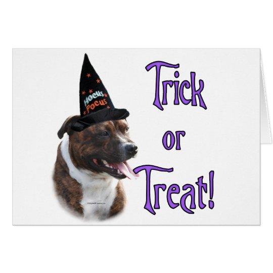 Staffordshire Bull Terrier Trick Card