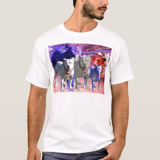 Staffordshire bull terrier union jack bandana T-Shirt