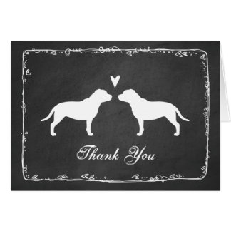 Staffordshire Bull Terrier Wedding Thank You Card
