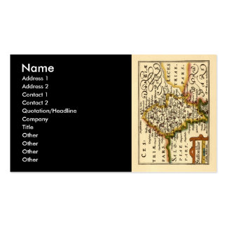 Staffordshire County Map, England Double-Sided Standard Business Cards (Pack Of 100)