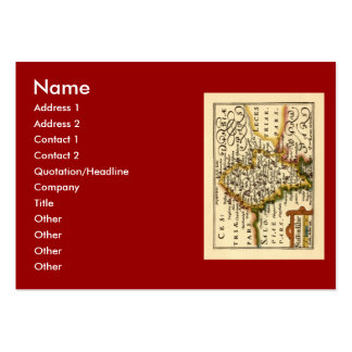 Staffordshire County Map, England Large Business Cards (Pack Of 100)