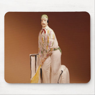 Staffordshire figure of a cricketer, 1865 mouse pad
