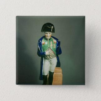 Staffordshire figure of Napoleon Bonaparte Pinback Button