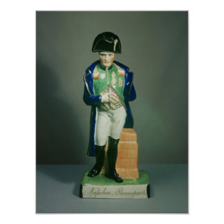 Staffordshire figure of Napoleon Bonaparte Poster