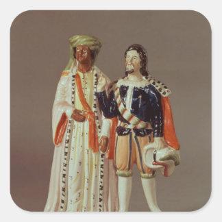 Staffordshire figure of Othello and Iago, c.1858 Square Sticker